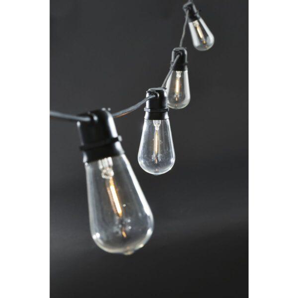 Function lyskæde fra House Doctor i sort med aflange pærer