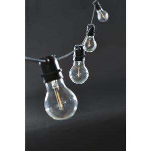 Function lyskæde fra House Doctor i sort med smalle pærer
