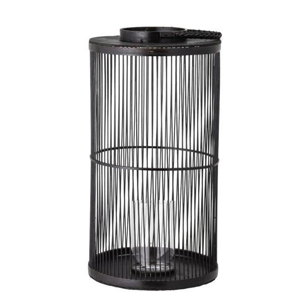 Effie lanterne med glas fra Bloomingville i sort