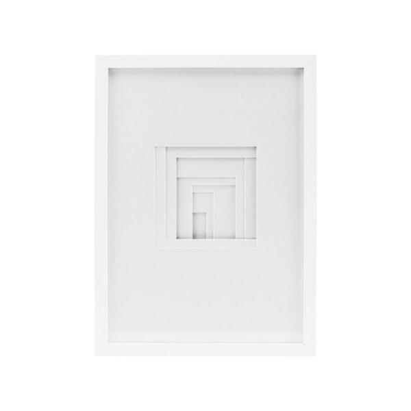 Relief billede i firkantet fra House Doctor i hvid