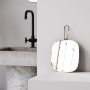 Spejl med ramme fra Meraki i antik messing