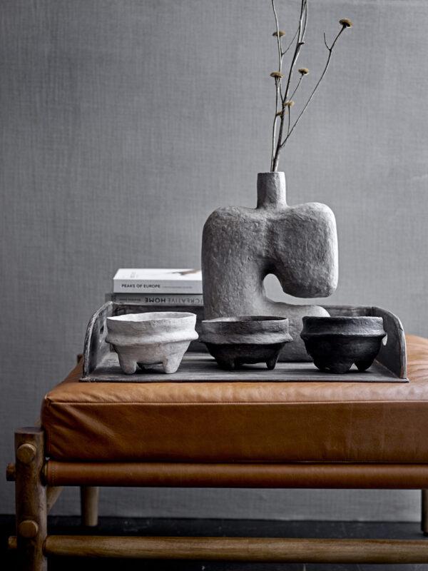 Banael dekoration / vase fra Bloomingville i grå