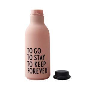 Statement vandflaske fra Design Letters i lyserød