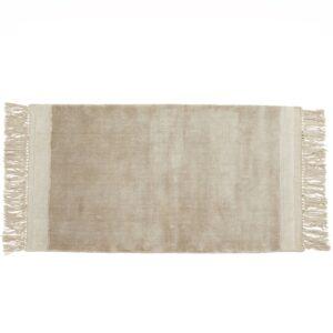 FILUCA tæppe med frynser fra Nordal i beige størrelse 200x290