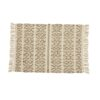 JOY gulvtæppe fra Nordal i hvid og brun - 60x90