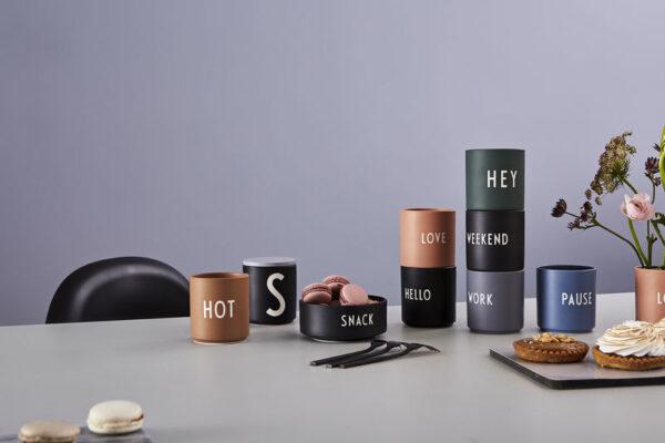 Design Letters favorit kop HOT brun