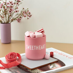 Design letters favorit kop sweetheart i pink