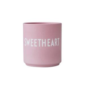 Design letters favorit kop sweetheart i pink