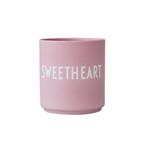 Design letters favorit lyserød kop sweetheart i pink