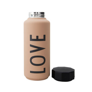 Design Letters termoflaske Love nude