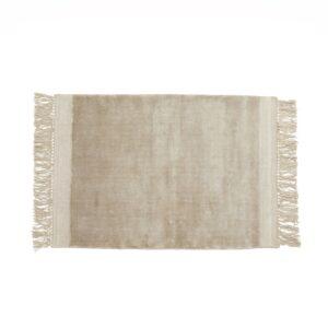 FILUCA tæppe med frynser fra Nordal i beige størrelse 160x240