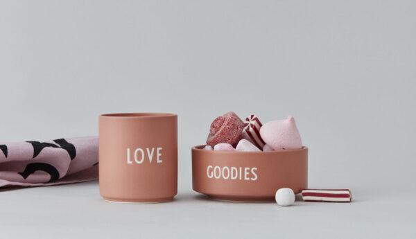 Goodie snackskål fra Design Letters i lyserød