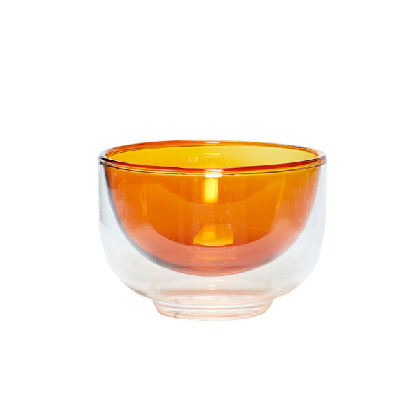 Hübsch skål i glas, amber og klar