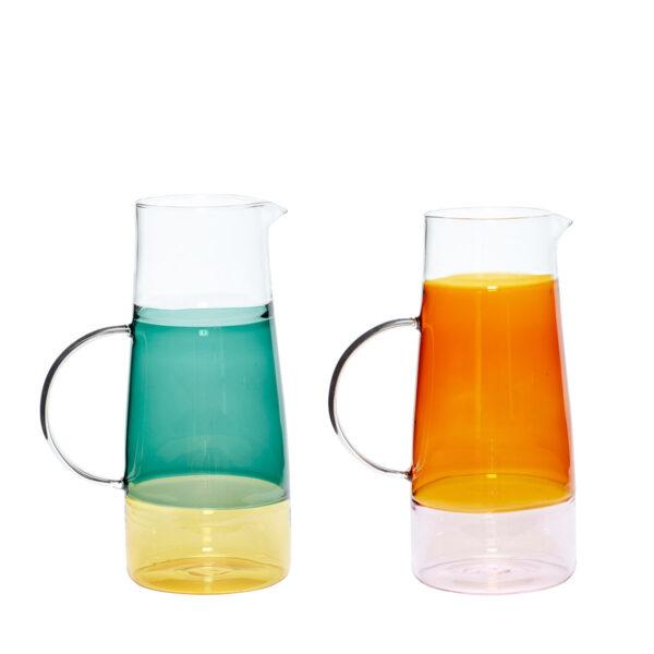 Hübsch kande i glas - sæt med 2 stk.
