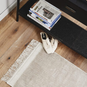 FILUCA gulvtæppe med frynser fra Nordal i beige størrelse 60x90