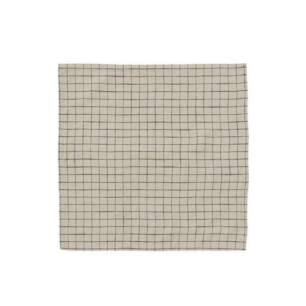 OYOY grid dækkeservietter i økologisk bomuld