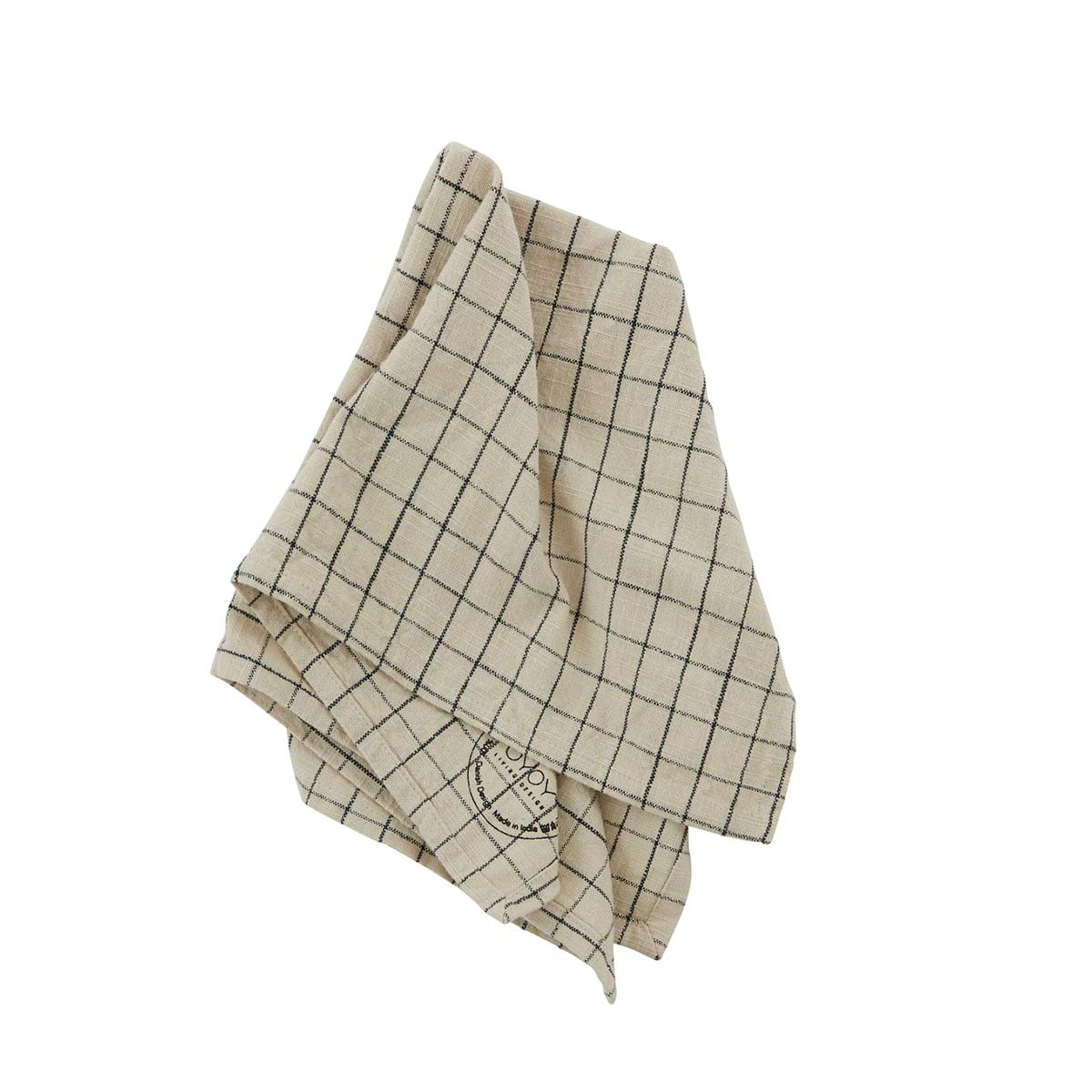 OYOY Grid stofservietter 2 stk. – clay / sort