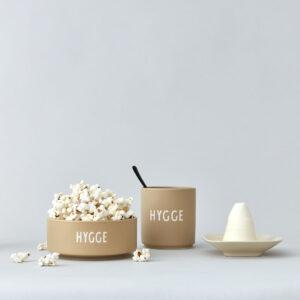 Snackskål fra Design Letters i beige