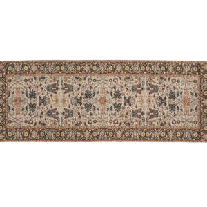 AMELIE tæppe fra Nordal i brunlige nuancer