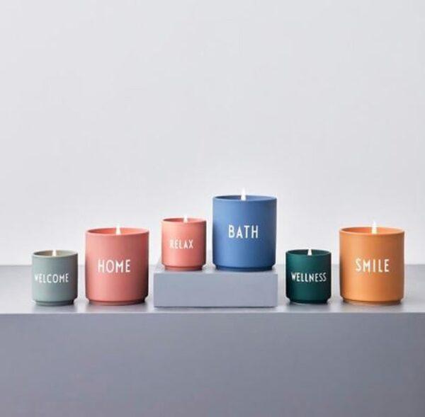 Duftlys fra Design Letters i lysegrøn