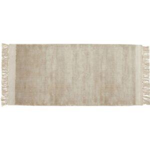 FILUCA tæppe med frynser fra Nordal i beige størrelse 75x200