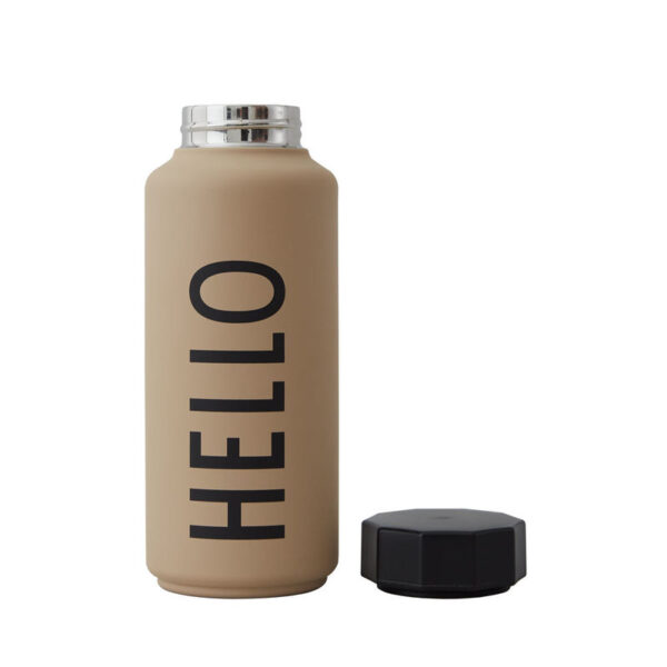 Design Letters termoflaske hello beige