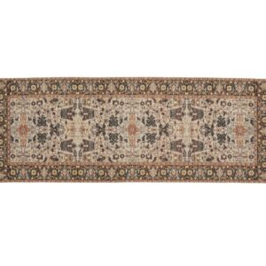AMELIE tæppe fra Nordal i brunlige nuancer 75x200 cm