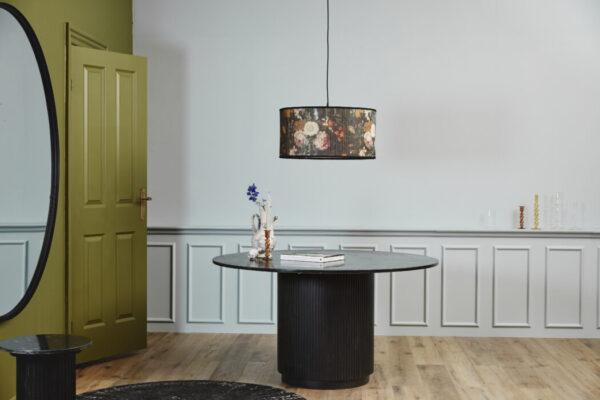 ERIE rundt spisebord fra Nordal i sort marmor