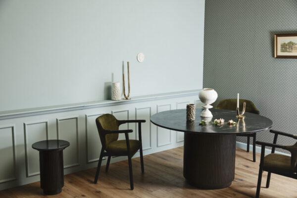 ERIE spisebord fra Nordal i sort marmor