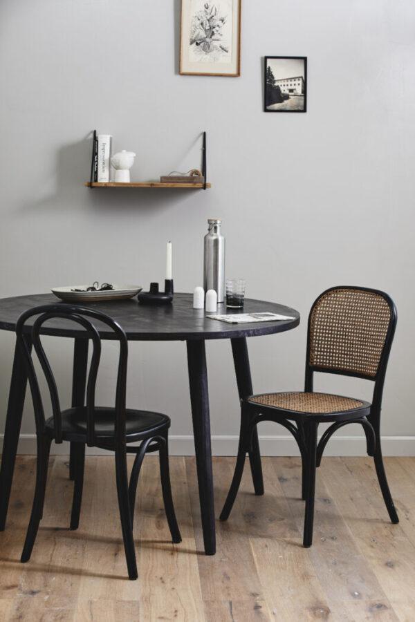 Rundt HAU spisebord fra Nordal i sort