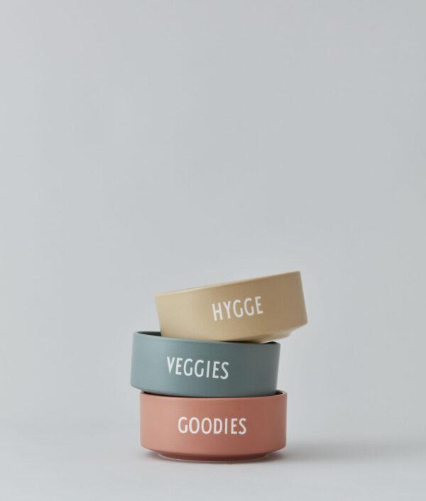 Snack skål fra Design Letters i beige