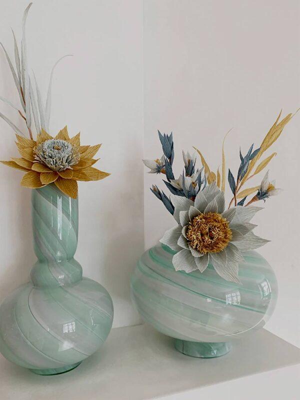 Eden Outcast Twirl Vase Tall Mint