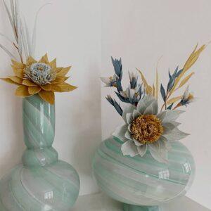 Eden Out cast Twirl Vase Tall Mint
