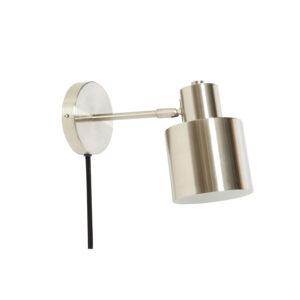Væglampe fra Hübsch i sølv