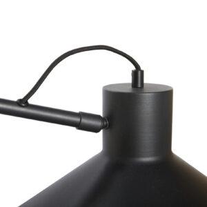 Metal væglampe fra Hübsch i sort