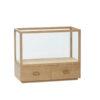 Glasmontre fra Hübsch i egetræ og glas