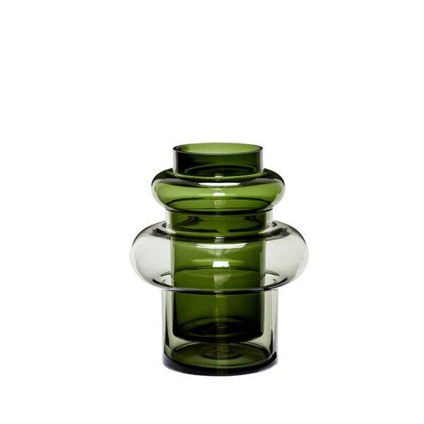 Hübsch grøn glasvase