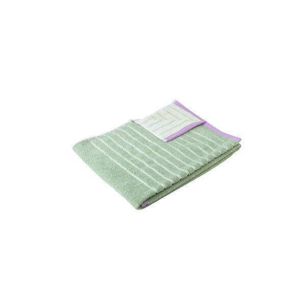 Hübsch håndklæde 50x100 cm grøn meleret