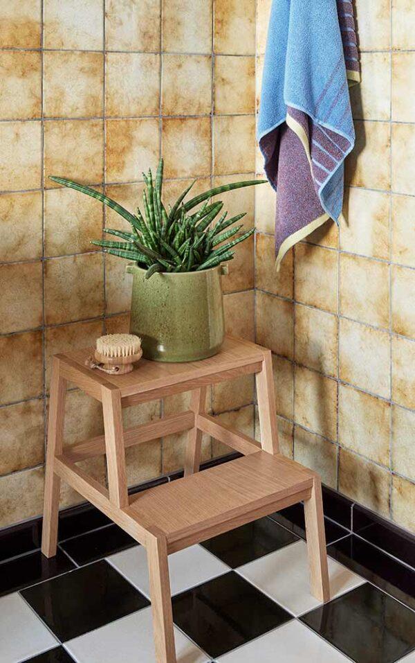 Hübsch håndklæde 70x140 cm lilla meleret