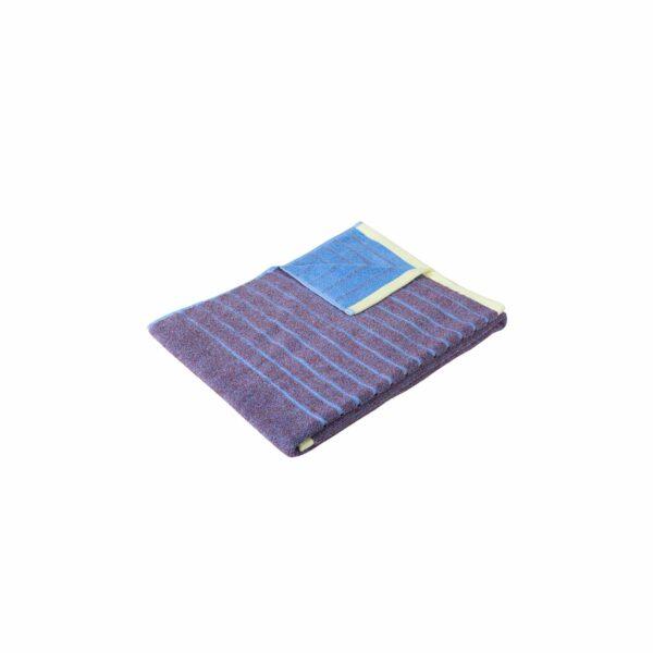 Hübsch håndklæde 50x100 cm lilla meleret