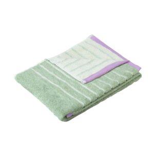 Hübsch håndklæde 70x140 cm grøn meleret