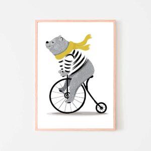 BilledGrossisten happy bear plakat til børneværelset