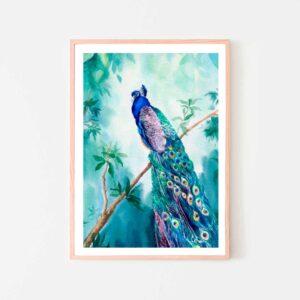 BilledGrossisten peacock plakat