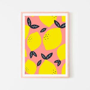 BilledGrossisten perfect lemon plakat