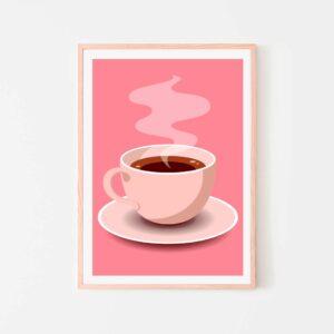 BilledGrossisten pink coffee plakat