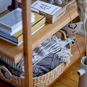 Bloomingville Celly tæppe i naturfarvet bomuld