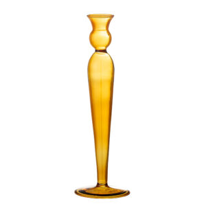 Bloomingville lysestage i gul glas