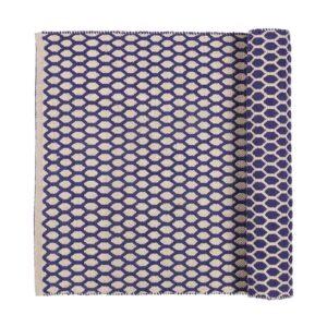 Broste Copenhagen Boris gulvtæppe blå 60x200 cm