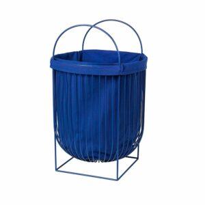 Broste Copenhagen Arild vasketøjskurv i mørk blå