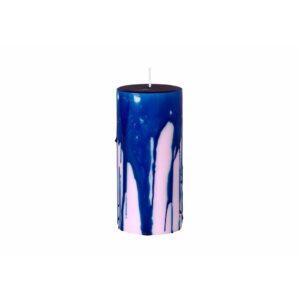 Broste Copenhagen Drip bloklys blå og lilla
